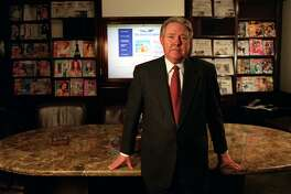 "Frank A. Bennack Jr. Hearst Corp. Pres. and CEO in a conference room at Hearst Corp. headquarters in New York City. Bennack will recieve the ""International Citizen of the Year"" award. LEO HSU/SPECIAL TO THE EXPRESS-NEWS"