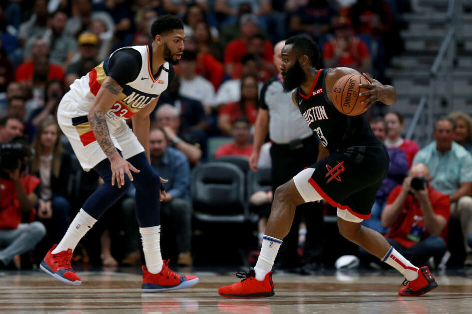 The next time James Harden and the Rockets see Anthony Davis, he'll be in a formidable Lakers frontcourt alongside LeBron James.