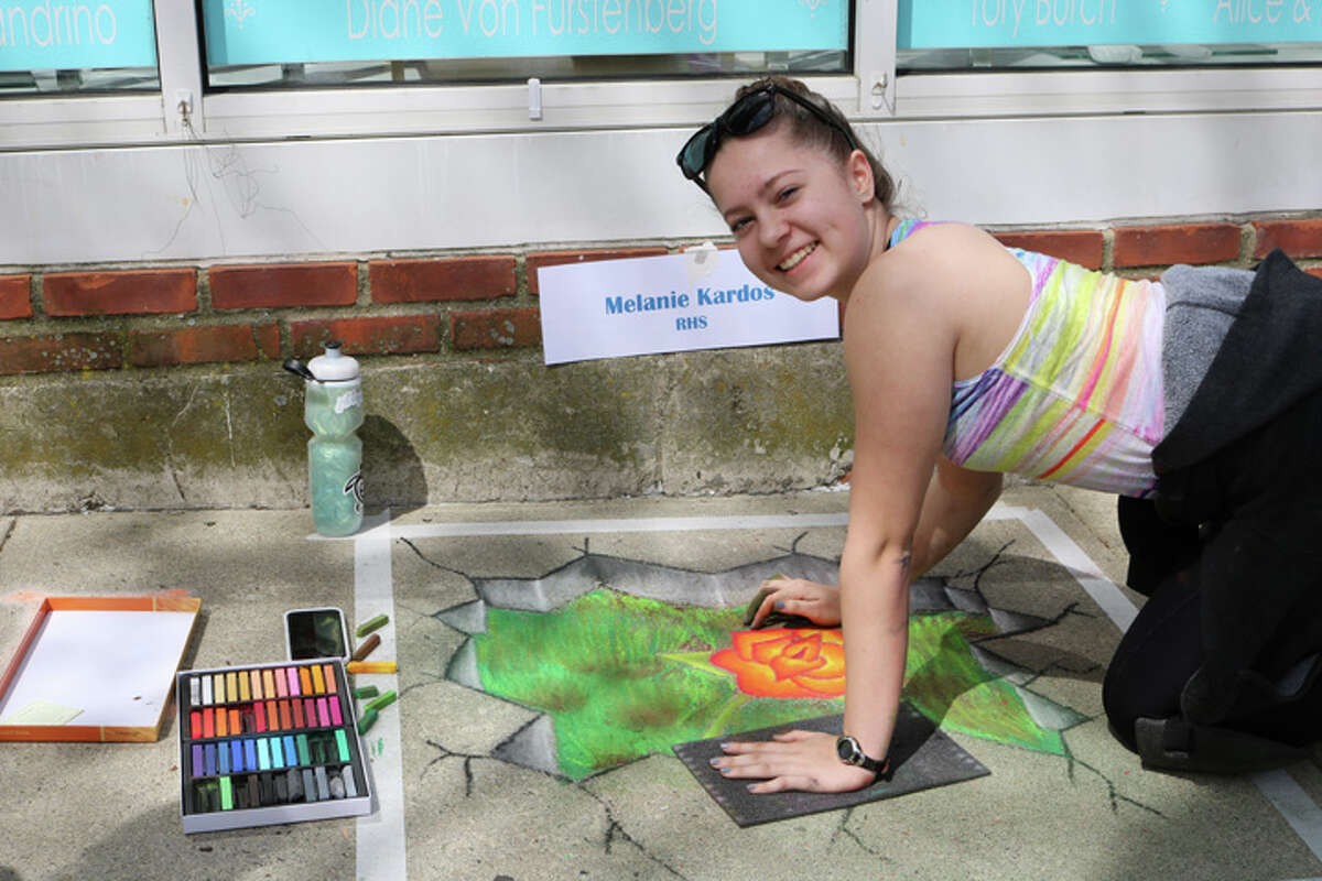 Melanie Kardos was the first-place winner at last year's Chalk Festival.