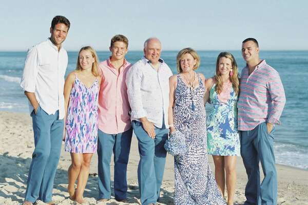 The Addessi family in Nantucket for Wayne and Bernadette's 35th wedding anniversary and vow renewal. From left to right, soon to be son-in-law, Joe Miele and daughter Meghan, son Thomas, Wayne and Bernadette Addessi and daughter and son-in-law Kate and Bryan Melo.