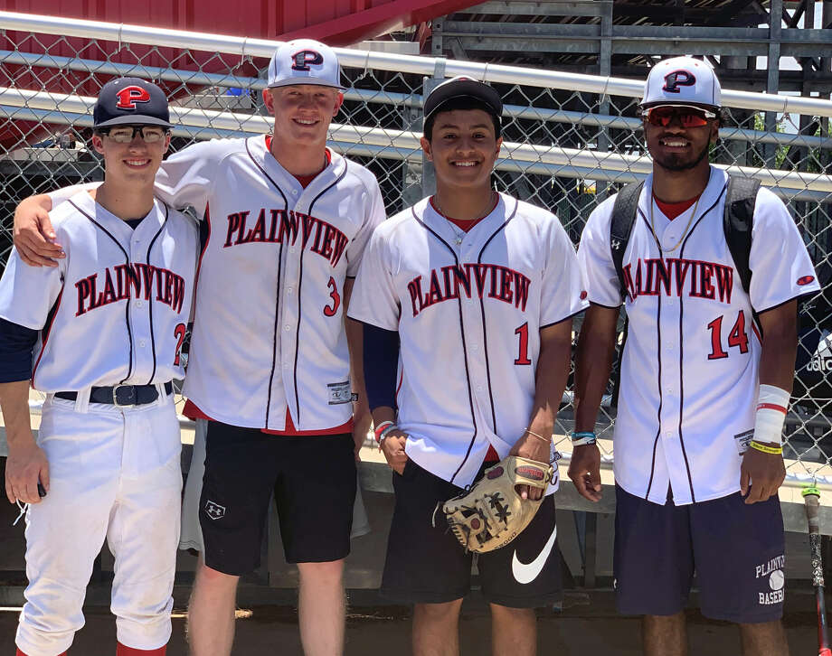 Plainview ISD players Brodrick Jackson, Riley Bennett, Brooks Browning and Elijah Munoz each competed in the 4A-5A-6A-TAPPS Greater West Texas Baseball All-Star game on Saturday at Lubbock Cooper High School. Photo: Courtesy Photo