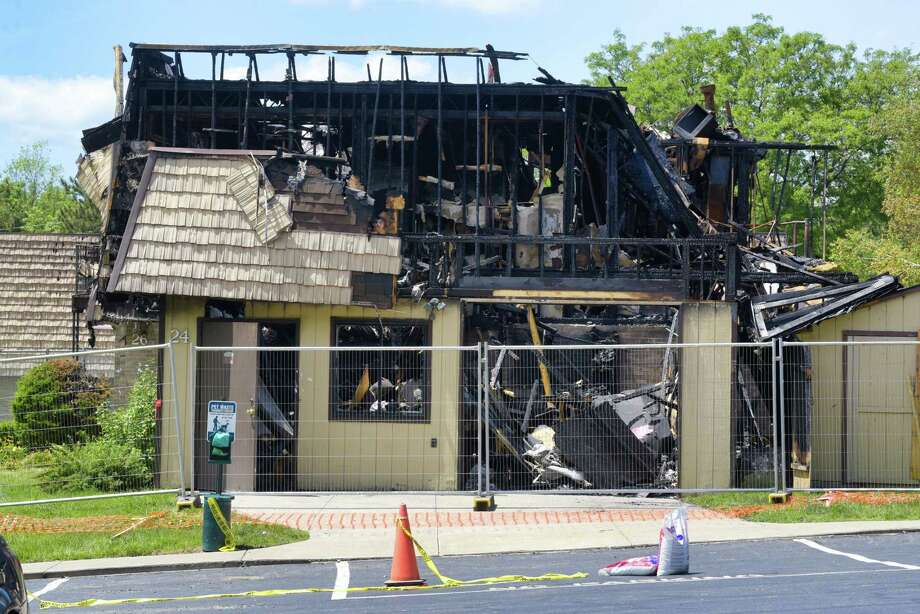 A view of the buildings at Meadowbrook Apartments that sustained fire damage from a fire which began early Thursday morning, seen here on Monday, June 17, 2019, in Sligerlands, N.Y.   (Paul Buckowski/Times Union) Photo: Paul Buckowski, Albany Times Union / (Paul Buckowski/Times Union)