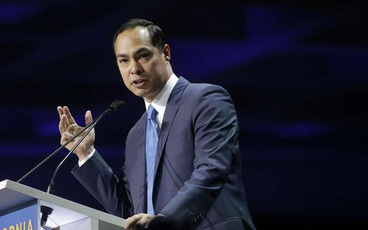 Democratic presidential candidate Julián Castro speaks during the 2019 California Democratic Party State Organizing Convention in San Francisco.