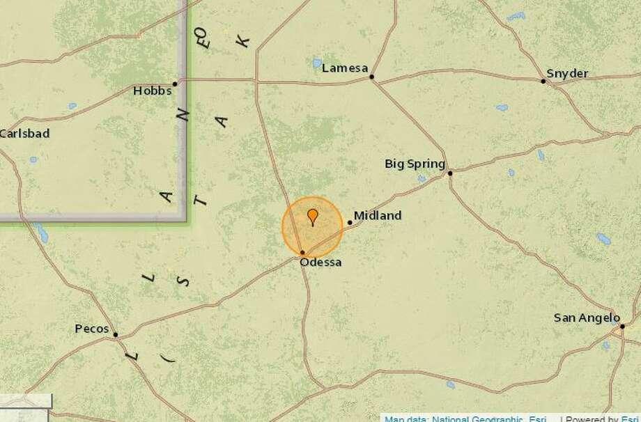One June 15 a 2.7 magnitude quake was reported 4 miles southeast ofGardendale.  Photo: Earthquaketrack.com