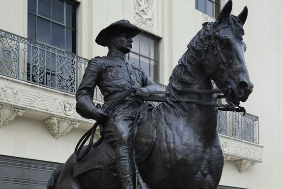 A reader hopes the city will let this statue of Teddy Roosevelt be, unlike the Confederate statue from Travis Park.