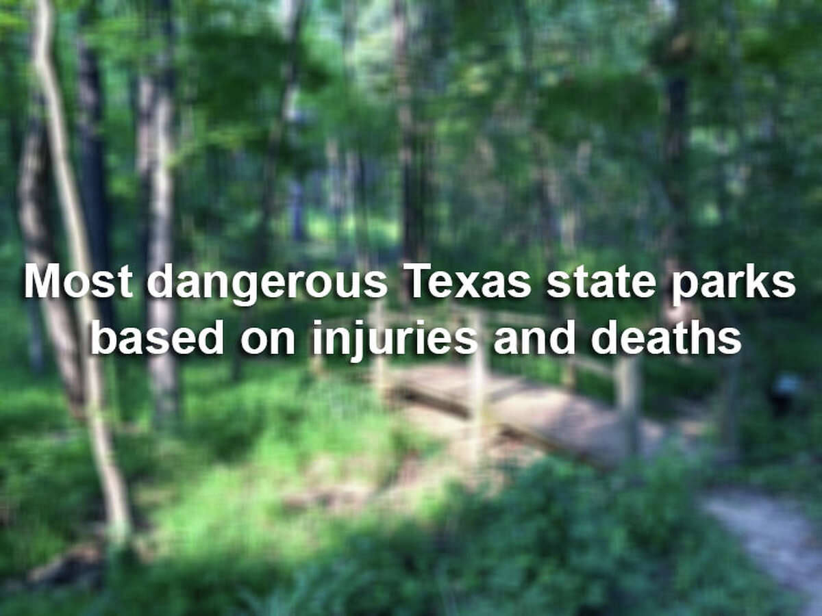 Click through to view the most dangerous Texas state parks.Based on data collected by Texas Parks and Wildlife Department between September 2017 and August 2018.