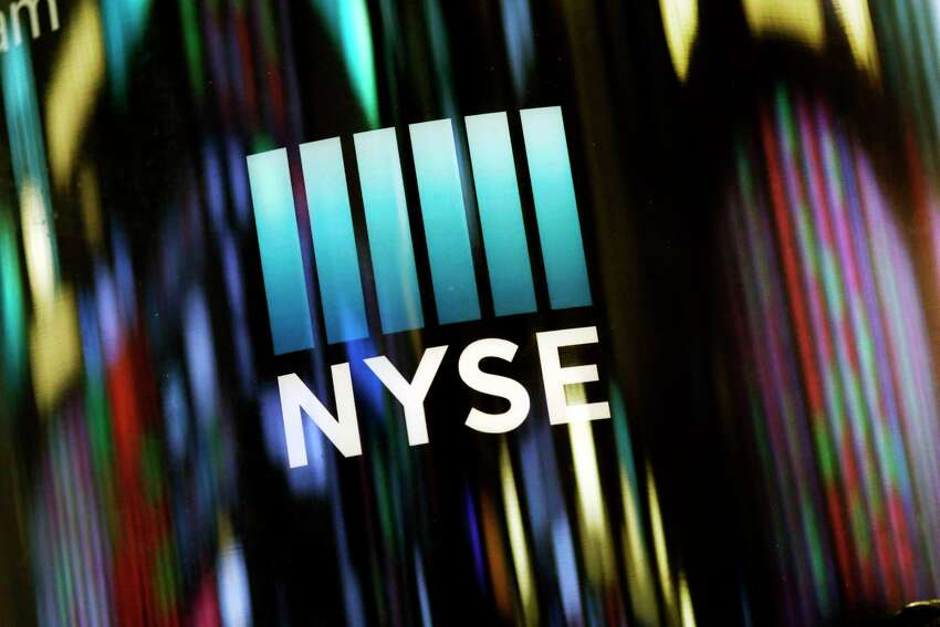 FILE - In this May 13, 2019 file photo, the NYSE logo is displayed at the New York Stock Exchange. U.S. stocks edged higher in early trading on Wall Street Monday, June 17, following two weeks of gains. (AP Photo/Mark Lennihan, File)