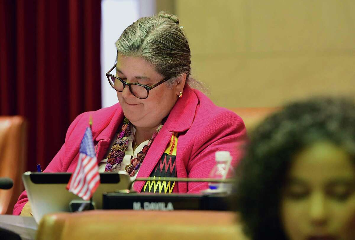 FILE. New York State Assemblymember Carrie Woerner is seen as lawmakers vote on bills in the Assembly chamber on Monday, June 17, 2019 in Albany, N.Y. (Lori Van Buren/Times Union)