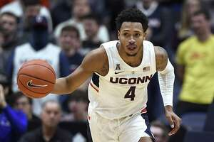 UConn's Jalen Adams hopes to hear his name called during the NBA draft.