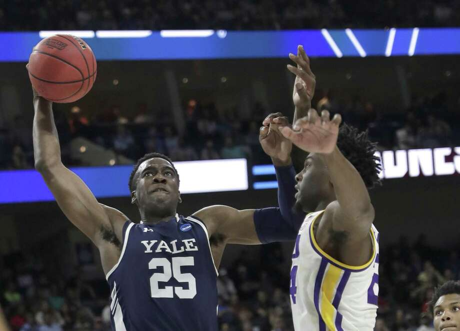 Yale's Miye Oni could hear his name called in the NBA draft. Photo: John Raoux / Associated Press / Copyright 2019 The Associated Press. All rights reserved