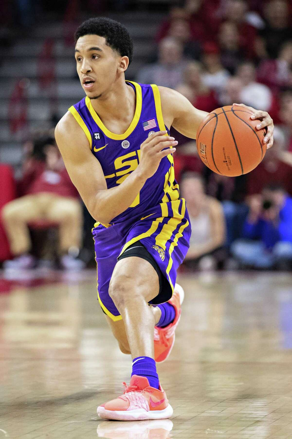 LSU's Tremont Waters, a New Haven native, hopes to hear his name called in the NBA draft.
