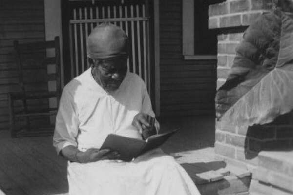 President Franklin D. Roosevelt's New Deal program in the 1930s commissioned writers to document former Texas slaves' narratives. This image from 1937 shows Mary Armstrong, a former slave living in Houston.