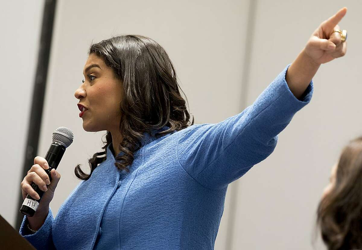 San Francisco Mayor London Breed speaks during the Women's Caucus event at the California Democratic Convention held at Moscone North in San Francisco, Calif. Saturday, June 1, 2019.