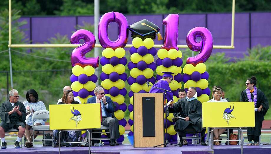 Westhill High School Class of 2019 commencement exercises on June 17, 2019 in Stamford, Connecticut. Photo: Matthew Brown, Hearst Connecticut Media / Stamford Advocate