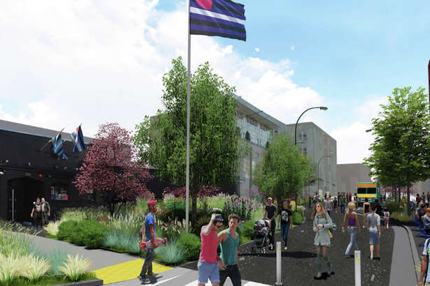 A rendering of the planned Eagle Plaza. | Image: Courtesy of Friends of Eagle Plaza