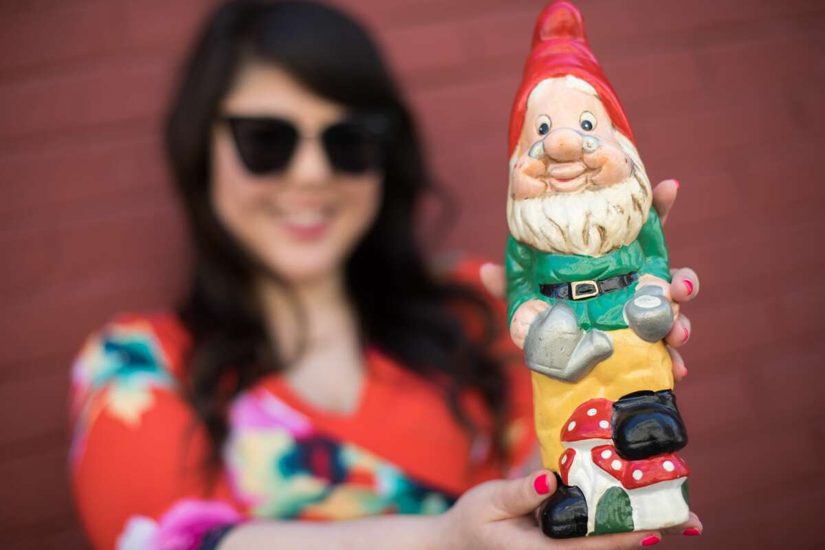 A garden gnome was the initial inspiration for Jenn Takahashi of San Francisco to curate the 'Best of Nextdoor' Twitter account, It pulls the funniest and most random bits from the social media service Nextdoor.