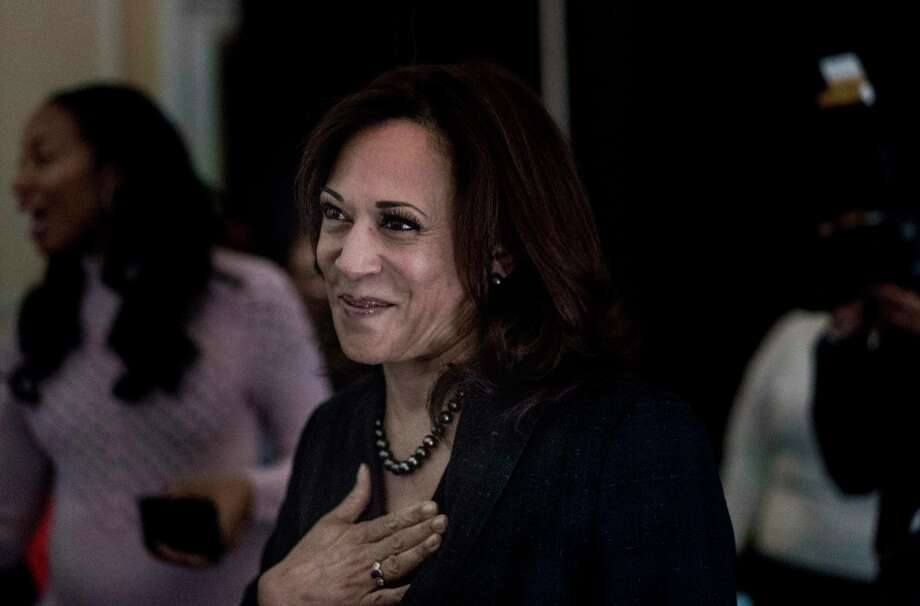 Sen. Kamala Harris, D-Calif. Essence magazine has a new monthly feature for its readers, a column written by Kamala Harris, the only black woman in the U.S. Senate and the only black woman seeking the presidency in 2020. The column, called Kamala's Corner, will publish online in the middle of every month and serve as a space for Harris to talk about policy issues and tell stories from the campaign trail. Photo: Washington Post Photo By Melina Mara / The Washington Post