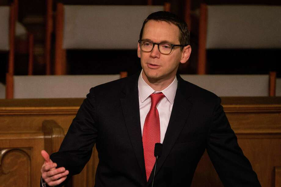 State Education Commissioner Mike Morath speaks during the Texas PTA's Rally Day at First United Methodist Church on Monday, Feb. 25, 2019, in Austin. (Michael Minasi / For the Chronicle) Photo: Michael Minasi / © Michael Minasi 2019
