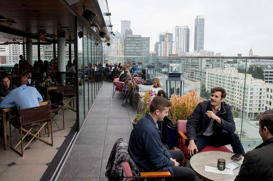Virgin Hotel's rooftop bar Everdene in San Francisco. Photo: Jessica Christian / The Chronicle