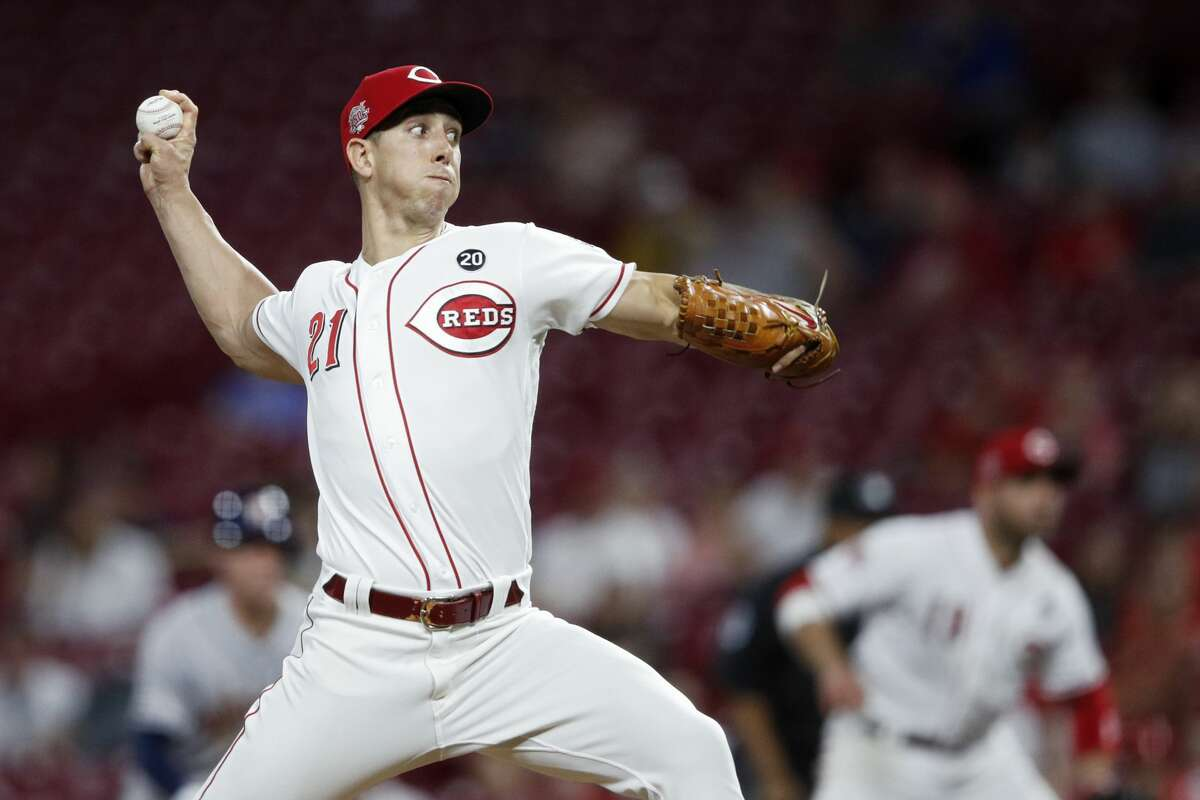 CINCINNATI, OH - JUNE 17: Michael Lorenzen #21 of the Cincinnati Reds pitches in the ninth inning against the Houston Astros at Great American Ball Park on June 17, 2019 in Cincinnati, Ohio. The Reds won 3-2. (Photo by Joe Robbins/Getty Images)