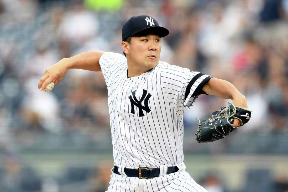 New York Yankees starting pitcher Masahiro Tanaka delivers during the first inning of a baseball game against the Tampa Bay Rays, Monday, June 17, 2019, in New York. (AP Photo/Sarah Stier) Photo: Sarah Stier / FR171690 AP