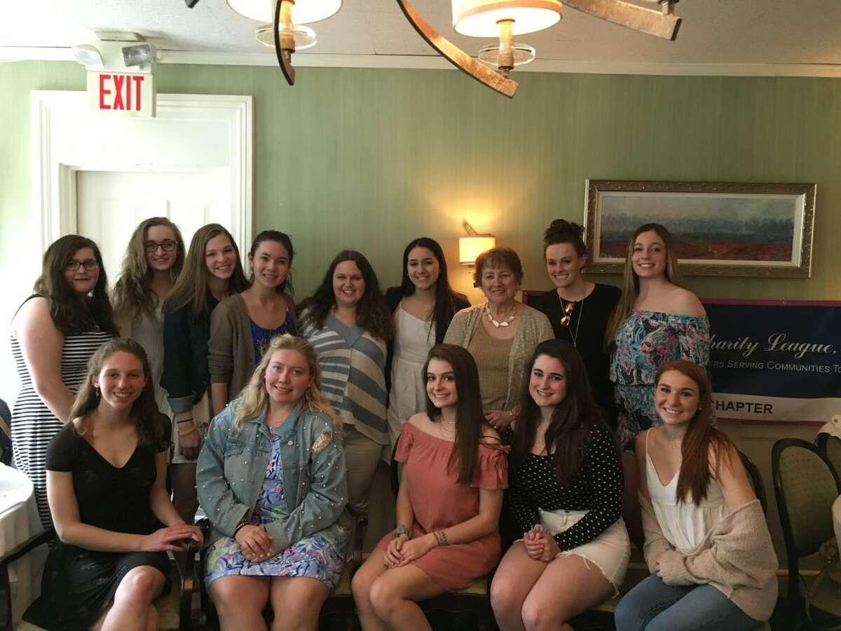 NCL Nutmeg seniors with Maureen Lutz of Necessities
