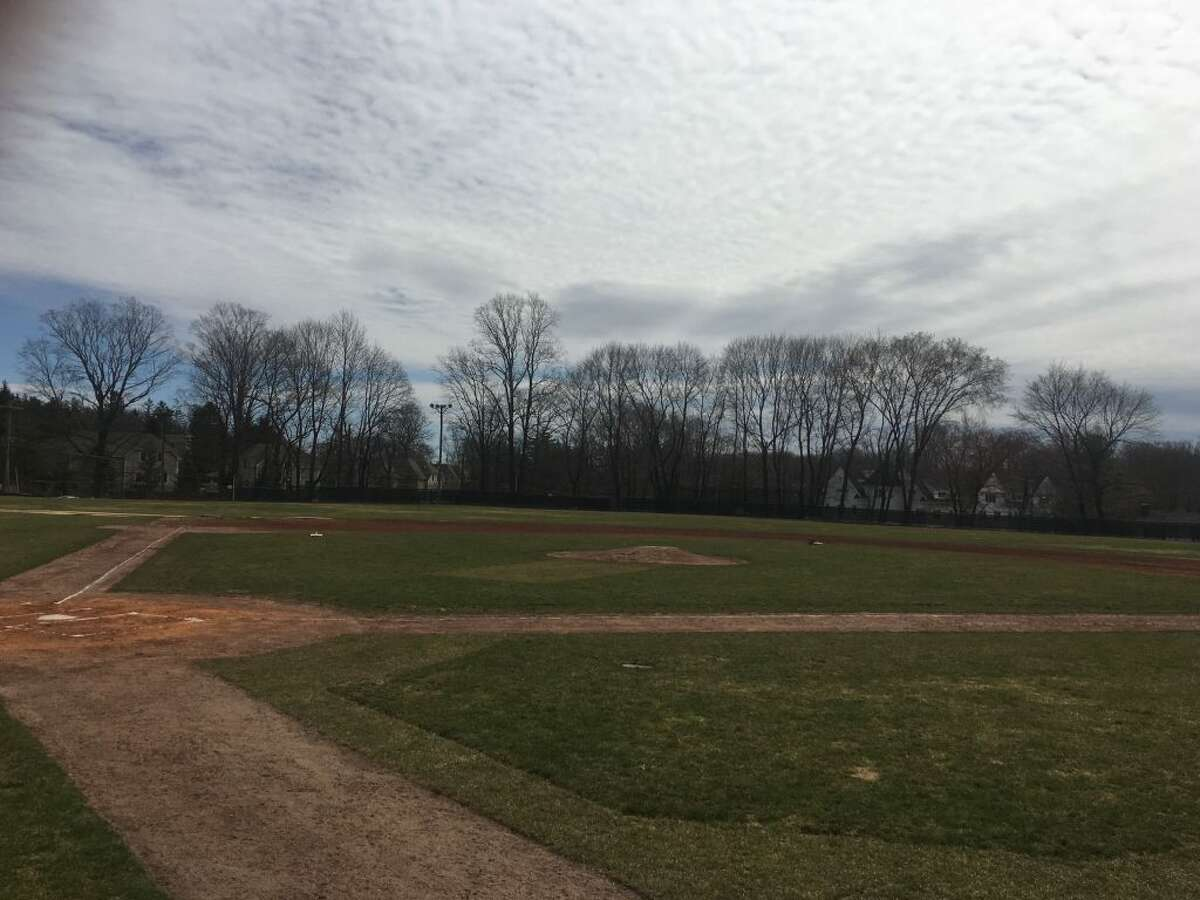 Governor Park in Ridgefield reopened Thursday, April 11, after gasoline was poured on the infield and lit on fire before a game last weekend. - Steve Coulter photo