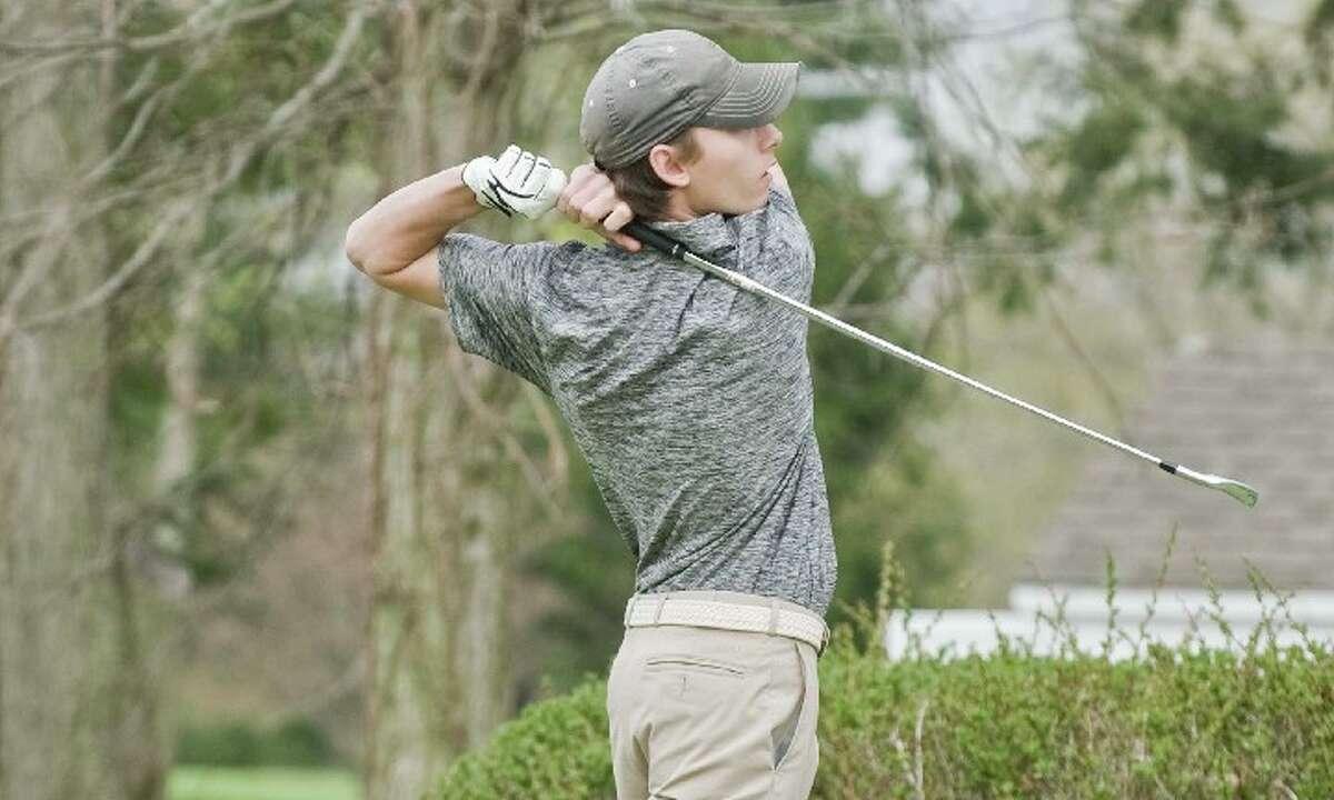 Senior Oliver Frossell is one of several returning starters for the Ridgefield High boys golf team. - Scott Mullin photo