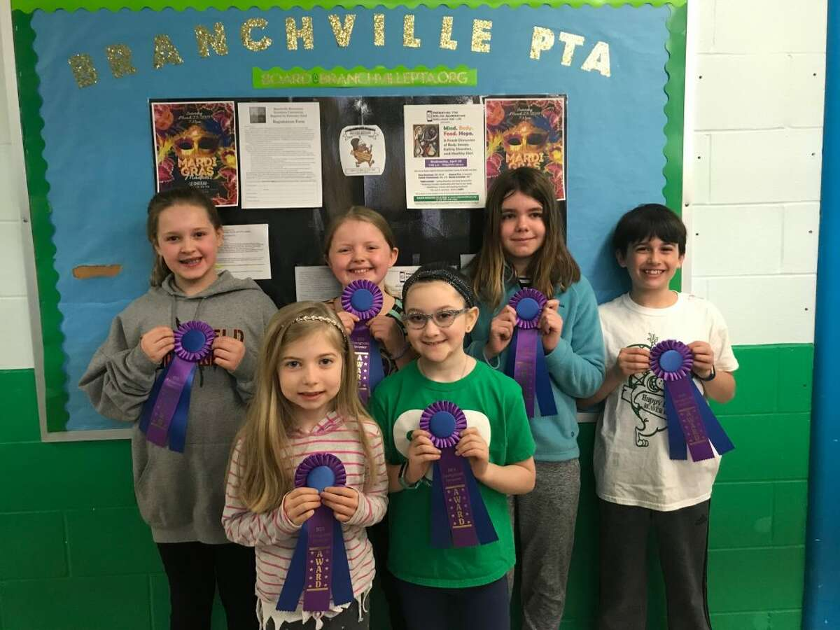 Branchville students Hannah Trotman, Jake Levi, Kaylie Shantz, Ella Mendez, Jaden DeLand, and Sofia Cluney are heading to the state's invention convention at UConn on May 4.