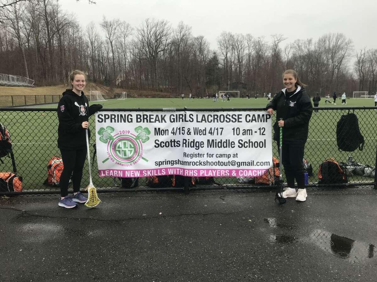 Ridgefield High School senior Grace Egan will be running the annual spring break Shamrock Shootout along with her fellow senior and lacrosse teammate Joanna Gengo.