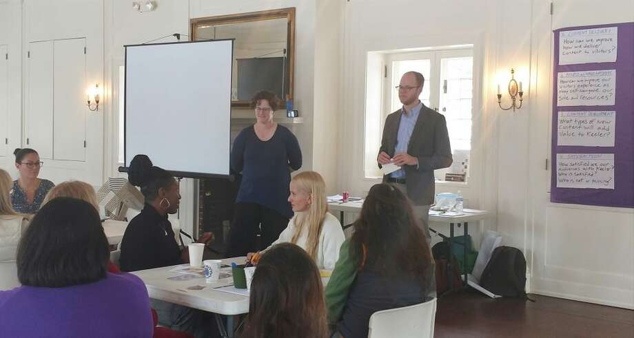 On March 12, Sarah Cohn and Al Onkka of Minneapolis-based Aurora Consulting led Keeler Tavern Museum & History Center's stakeholders in planning sessions for year-long visitor research, a project partially funded by a $9,990 Connecticut Humanities capacity-building grant.