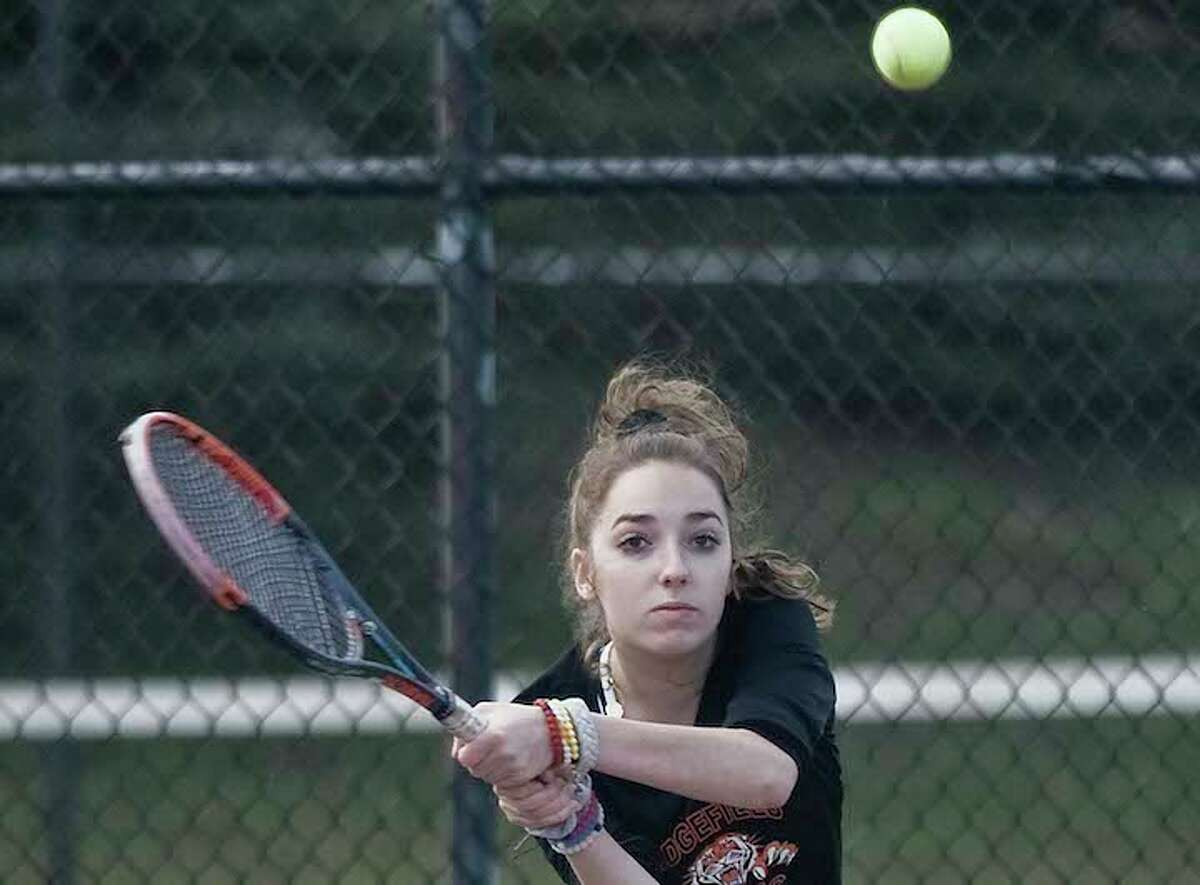 Senior Jillian O'Keefe earned All-FCIAC and All-State honors at first doubles last season. - Scott Mullin photo