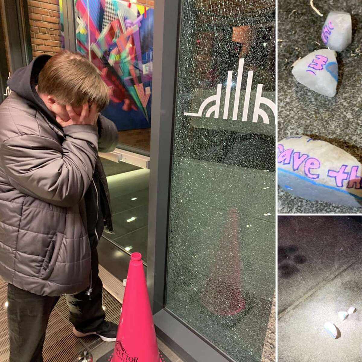 The Prospector Theater was the target of vandalism Friday night while Prospects were at work inside the nonprofit organization dedicated to providing meaningful employment to adults with disabilities.
