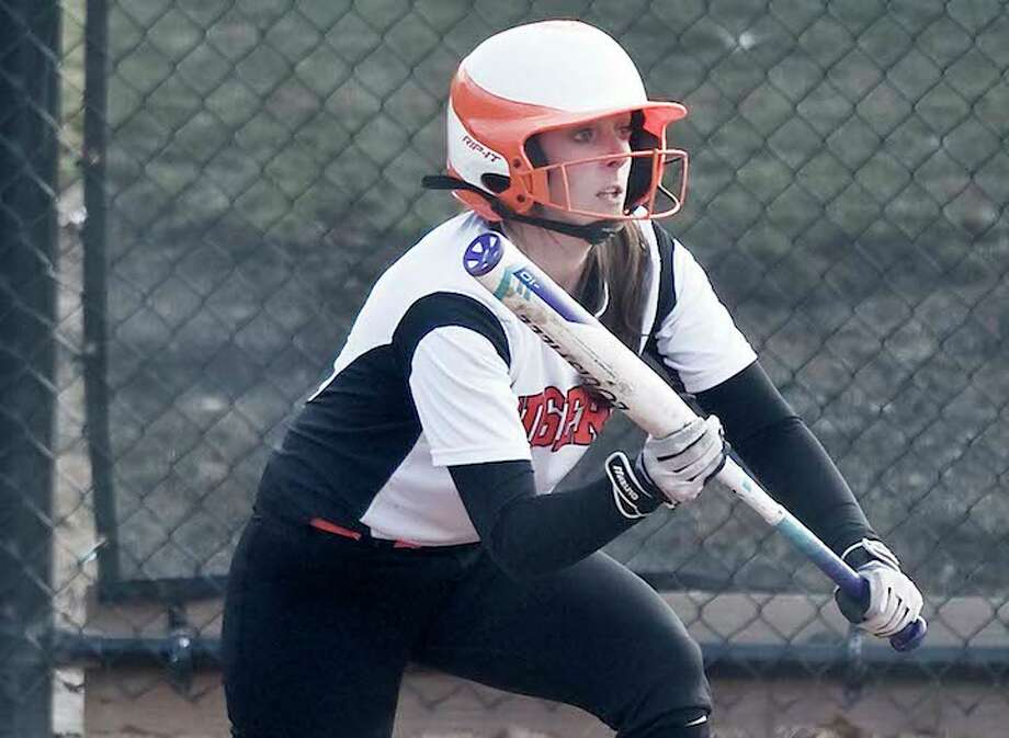 Lauren Bayer is a senior captain on this year's Ridgefield softball team. — Scott Mullin photo / Scott Mullin ownership