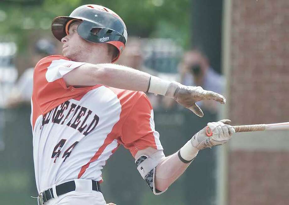 Joey Pastore is one of the top returning hitters for the Ridgefield baseball team. — Scott Mullin photo / Scott Mullin ownership