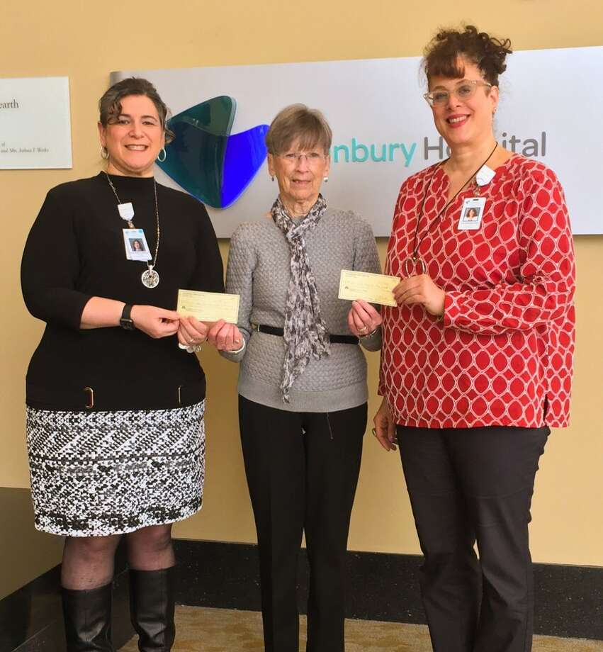 Pictured left to right are Amy Lionheart, manager of volunteer services at Danbury Hospital , Gen Fagan, finance committee member of The Ridgefield Thrift Shop, and Lorraine Sutner, grants manager for Western Connecticut Health Network.