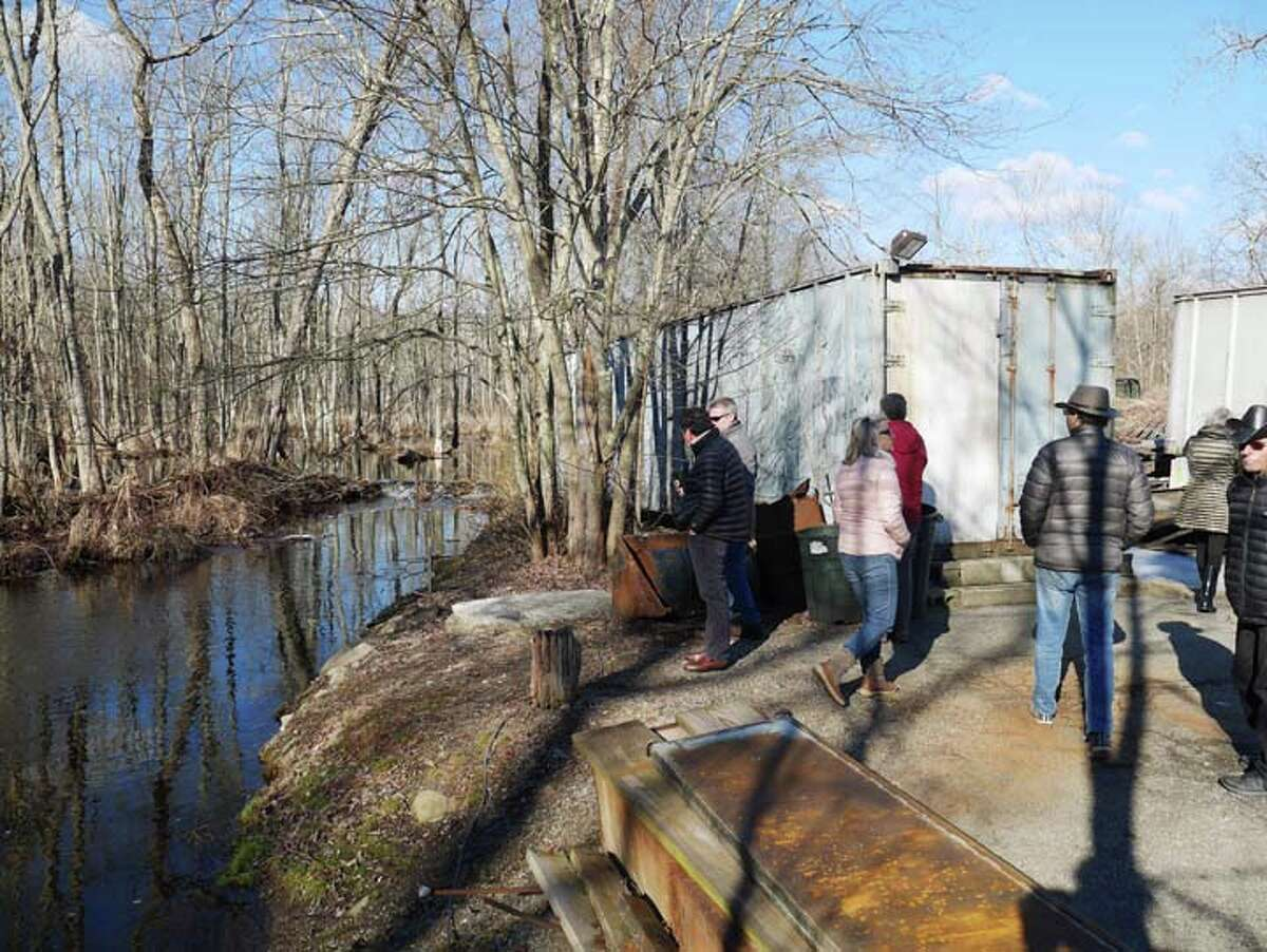 Members of the Planning and Zoning Commission toured the former Michael Venus property at 865 Ethan Allen Highway on Sunday, March 17.