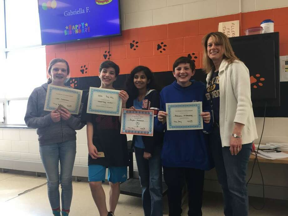 Pictured, from left to right: Lexi Steneken, Justin Agliardo, Anjali Hareesh, Max McMurray, and Marla Kay.