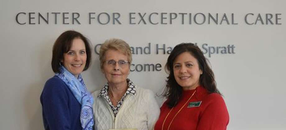 Pictured left to right: MJ Heller, Director of Philanthropy, RVNA; Joyce Ligi, member, the Ridgefield Thrift Shop; and Theresa Santoro, President and CEO, RVNA.