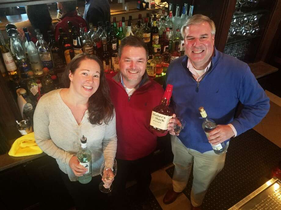 Ridgefielders Amy Casey, Chris Sorgie and Paul Gervais will be tending bar at Gallo Ristorante on March 21.