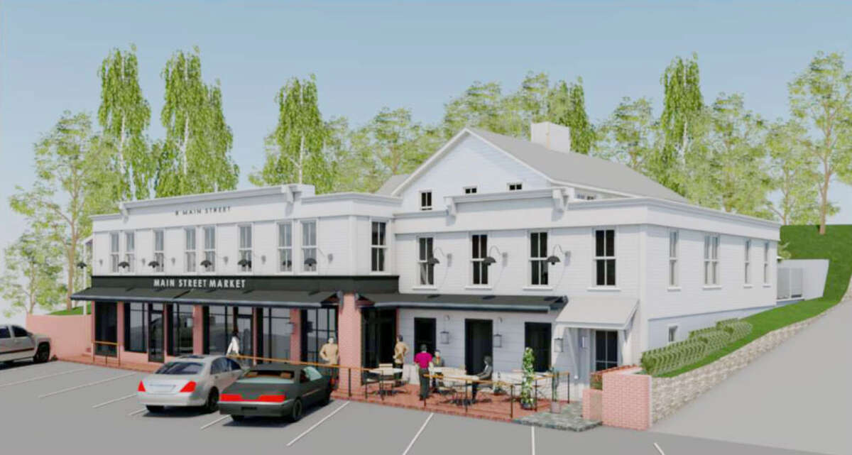 Artist's rendition of renovated Georgetown Saloon building.
