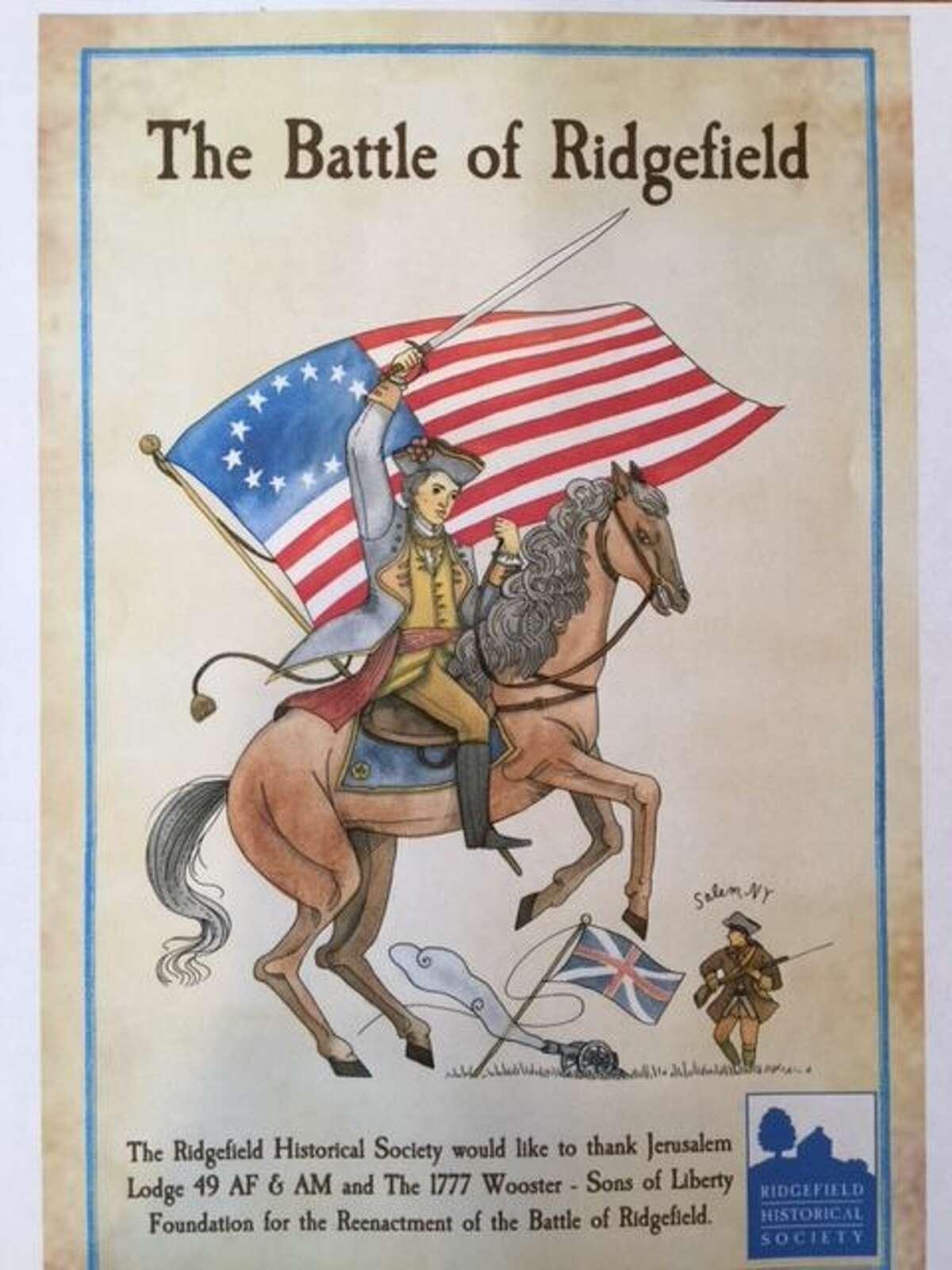 Battle of Ridgefield exhibit poster.