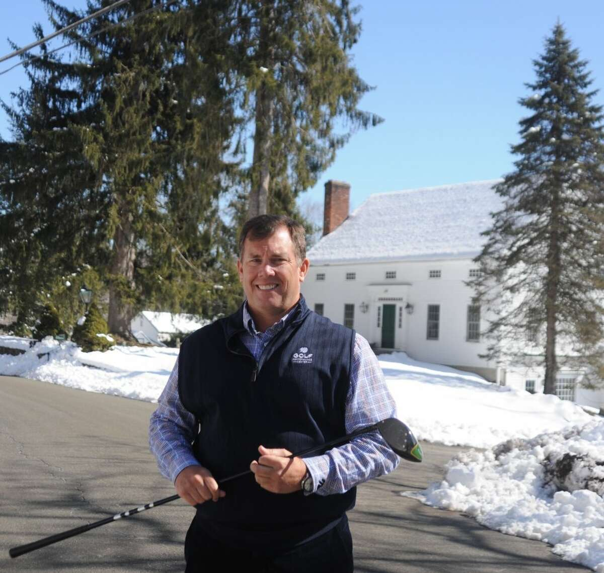 Roger Knick of the Golf Performance Center in Ridgefield plans a golf academy with boarding students at the former Stonehenge Inn. - Macklin Reid/Hearst Connecticut Media