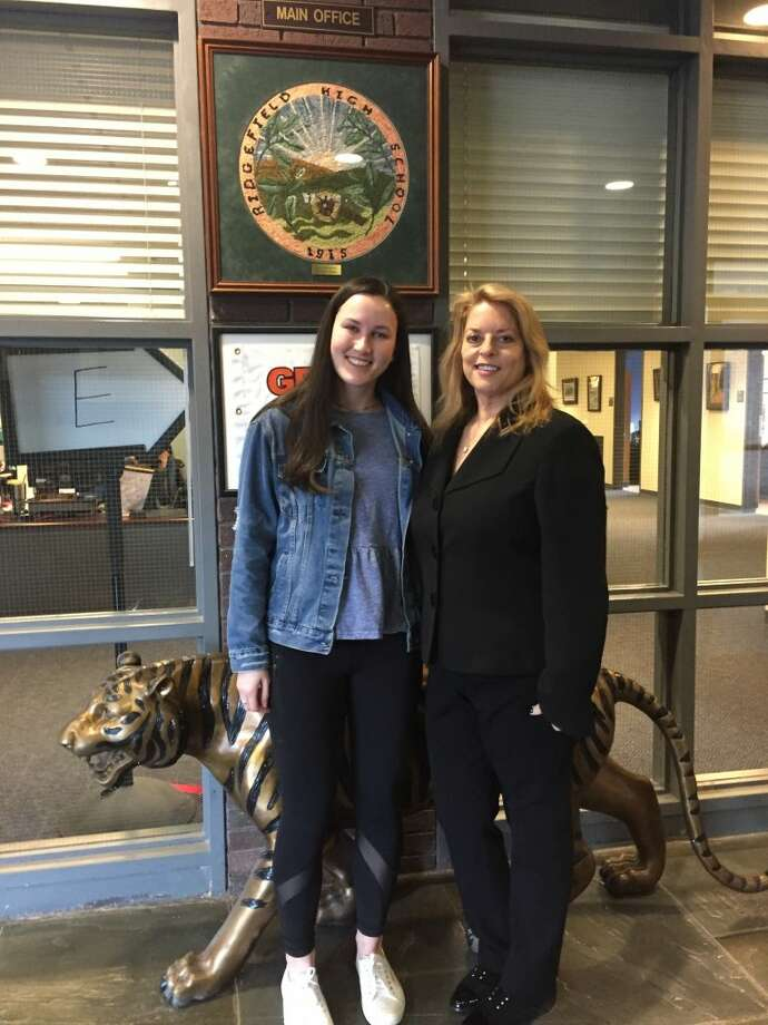 Dr. Stacey Gross pictured with RHS senior Fiona Sleigh, a finalist in the 2019 National Merit Scholarship Competition.