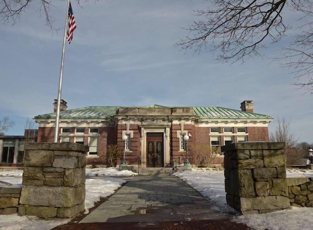 Ridgefield Public Library in downtown Ridgefield, Conn, Thursday, February 14, 2019.