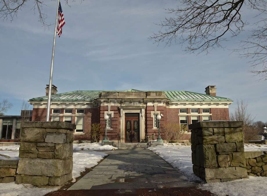 Ridgefield Public Library in downtown Ridgefield, Conn, Thursday, February 14, 2019. / The News-Times