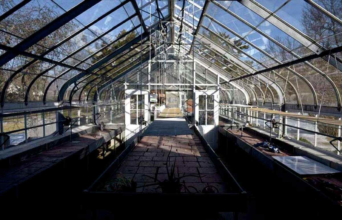 The Ballard Park greenhouse, a Lord & Burnham greenhouse, built by Mrs. Ballard's father, Lucius Bigelow in 1906. Tuesday, Feb. 19, 2019, in Ridgefield, Conn. Ballard left the land for the park to the town of Ridgefield.