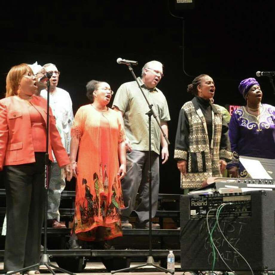 Spirit of Unity gospel music troupe, pictured in concert, will perform in celebration of Black History Month at Keeler Tavern Museum and History Center on Sunday, Feb. 24, at 4 p.m.