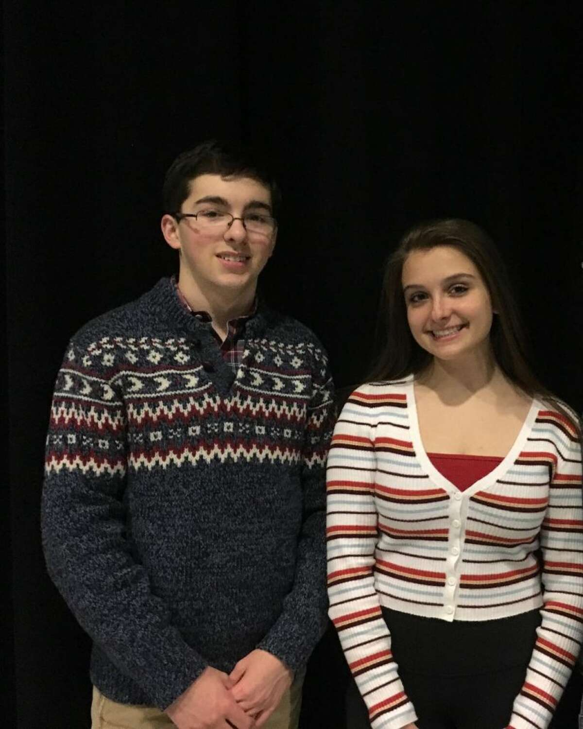 Seniors Evan Smolin and Emily Parker have been cast in the roles of Gomez and Morticia Addams in The Addams Family, playing at Ridgefield High School March 15-23.