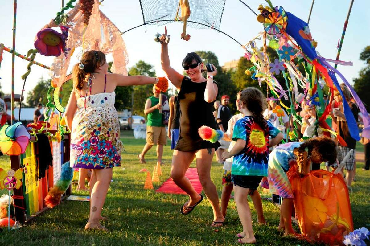Kimberley Von Baeyer of Wallkill, NY, dances through the